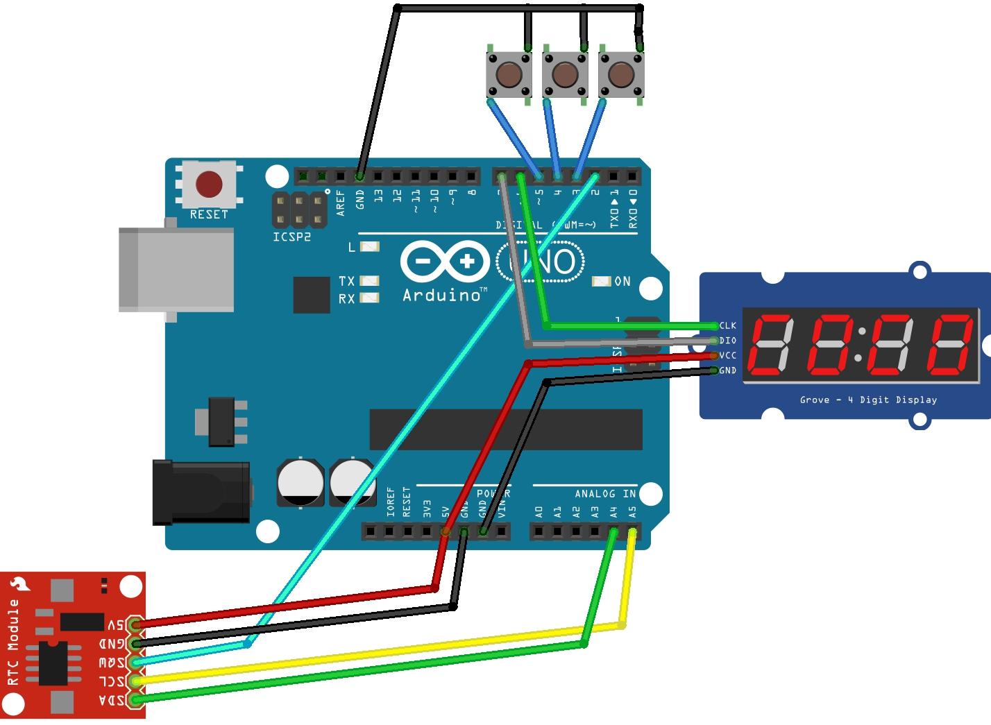 making a digital clock arduino 7 segment 4 digit tm1637 rh pinterest com