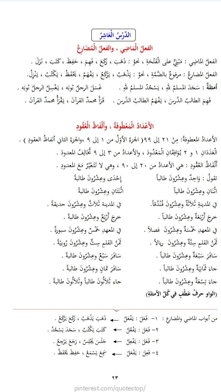 Cours N 10 Tome 2 Learn Arabic Language Learn English Words Arabic Language