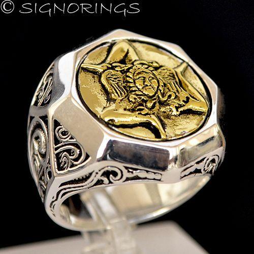 18k Gold Sicilian Trinacria Sterling Silver Triskelion Custom