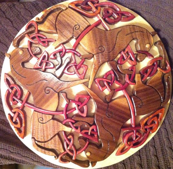 Epona Celtic Knotwork  Intarsia Woodworking by ChrisMobleyDesigns, $250.00