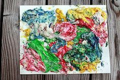 Pintura de harina y colorantes de comida #Manualidades #Pintura #HechoEnCasa