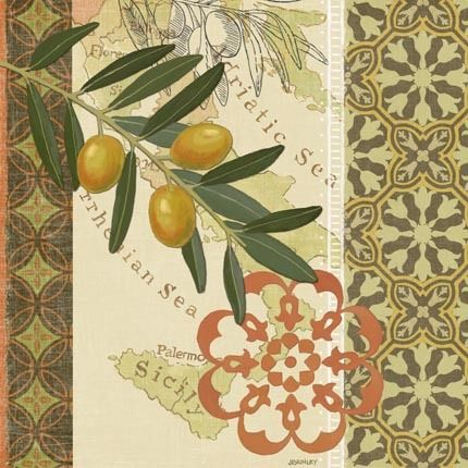 Oliva Italiana-Green Tile by Jennifer Brinley | Ruth Levison Design