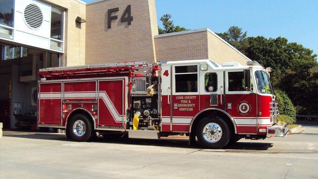 Cobb County Engine 4 Fire Trucks Fire Rescue Emergency Vehicles