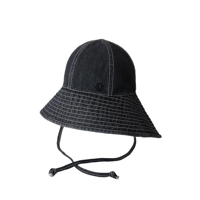 Japanese Denim Bucket Hat Maison Michel Paris In 2021 Maison Michel Japanese Denim Maison Michel Hat