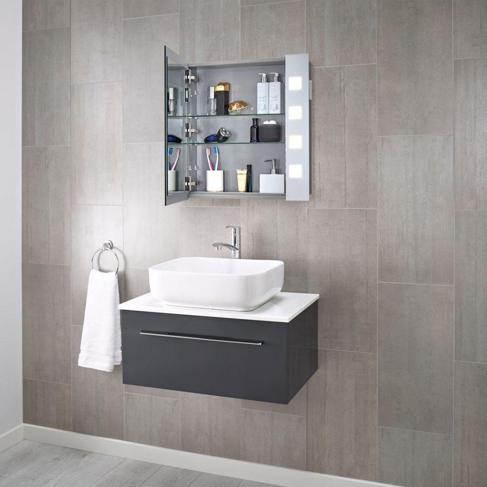 Pyrus Led Illuminated Bathroom Mirror Cabinet Bathroom Mirror Cabinet Mirror Cabinets Modern Bathroom Cabinets
