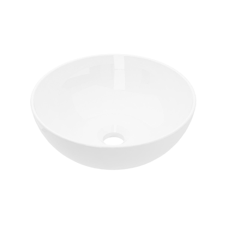 Plan Vasque Diam L 33 X H X P 33 Cm Easy Vasque Plan Vasque Et Leroymerlin Salle De Bain