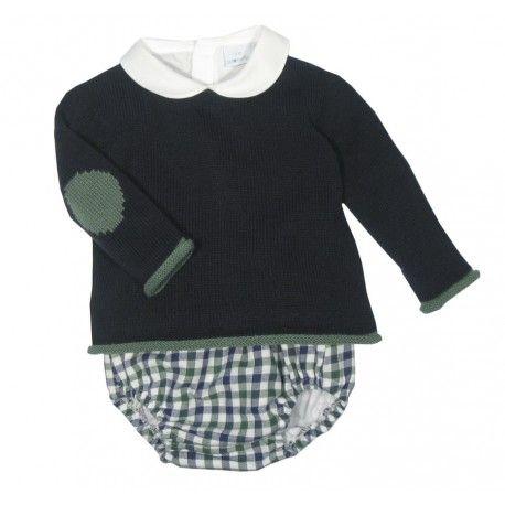 77a585657 Ranita de cuadros con blusa y jersey de la marca Paloma de la O en  Conjuntos para Bebé. Irán preciosos con la ropa de bebé de nuestra tienda  online ...