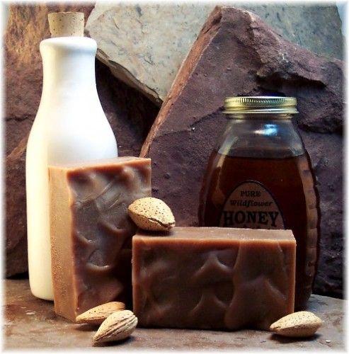 Goatmilk Honey Handmade Soap with Cherry Almond Fragrance | Soapsmith - Bath & Beauty on ArtFire