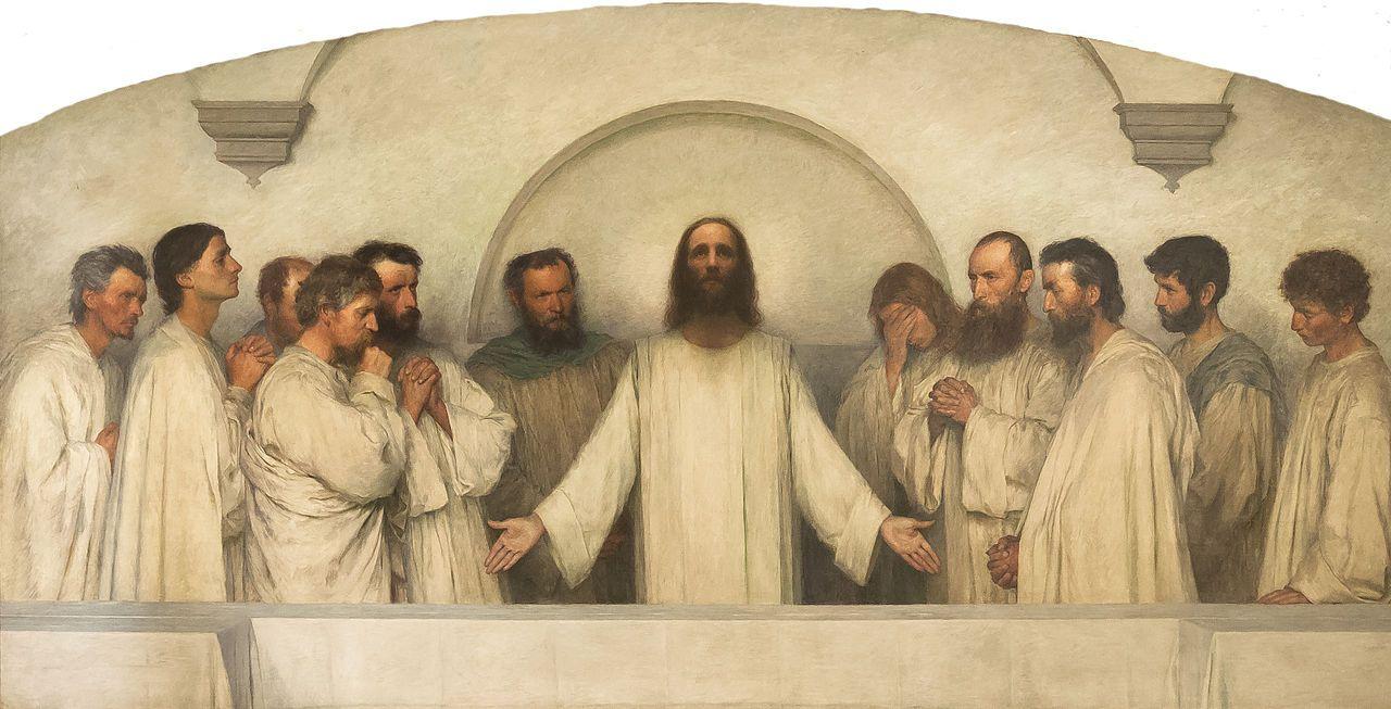 categoryeugène burnand  religiöse bilder abendmahl das