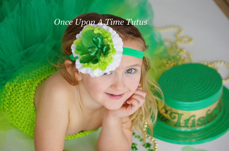 green bow Gnome hair bow baby headband St.Patrick/'s day bow