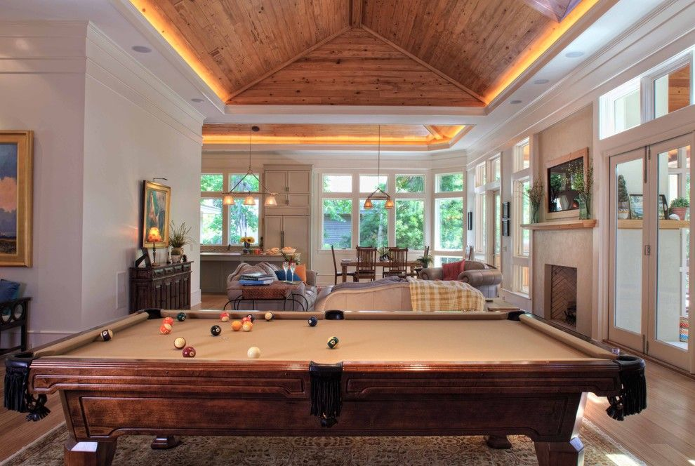 Beautiful Pool Table Ping Pong Combo In Family Room Contemporary .