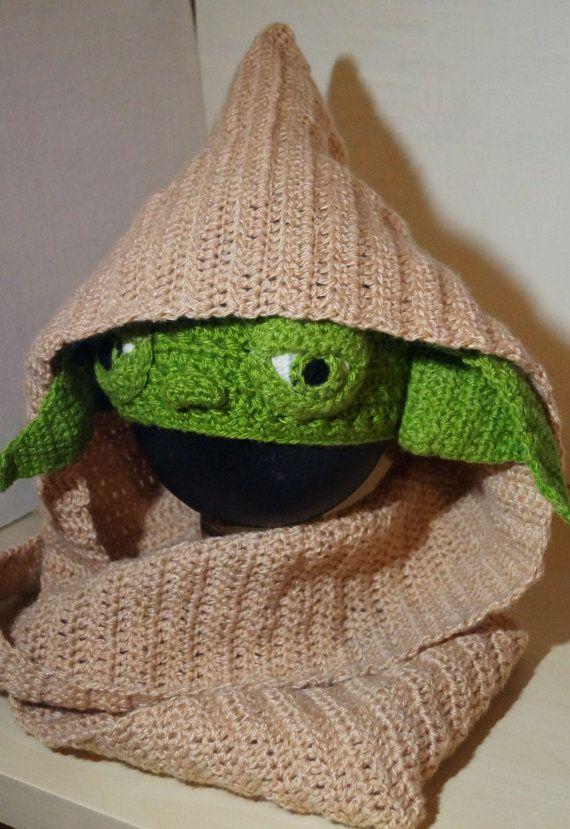 Yoda Crochet Pattern PDF, Star Wars Costume, Hooded Scarf Pattern ...