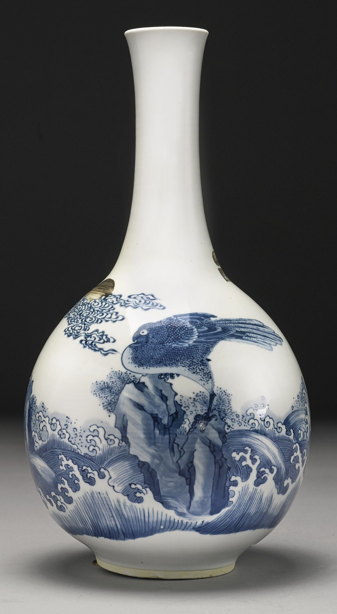 a blue and white and copper red vase qing dynasty kangxi period chinese art pinterest. Black Bedroom Furniture Sets. Home Design Ideas