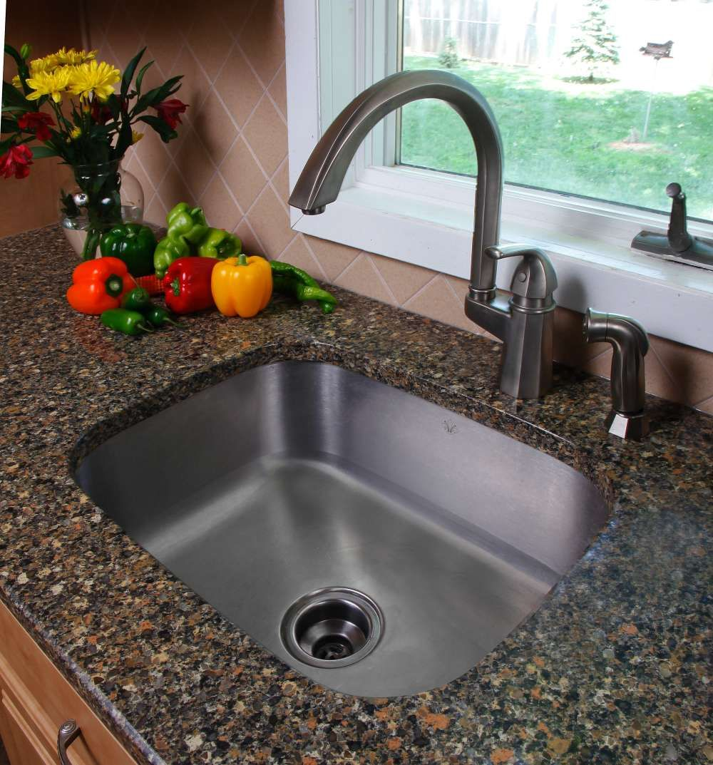 At RockTops we have compact sink options for smaller kitchens