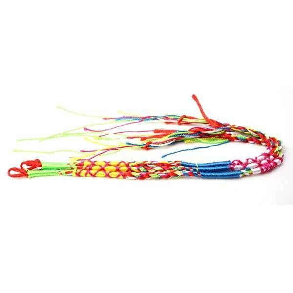Colorful Handmade Weave Braided String Rope Bracelet ($2.74) ❤ liked on Polyvore featuring jewelry, bracelets, adjustable cord bracelet, multi colored jewelry, woven cord bracelet, braided rope bracelet and tri color bangles