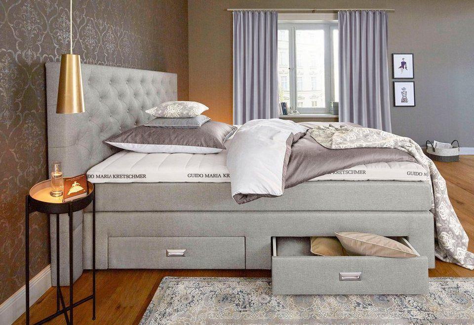 gmk home living boxspringbett aivi mit schubk sten ab 899 99 edle knopfheftung im. Black Bedroom Furniture Sets. Home Design Ideas