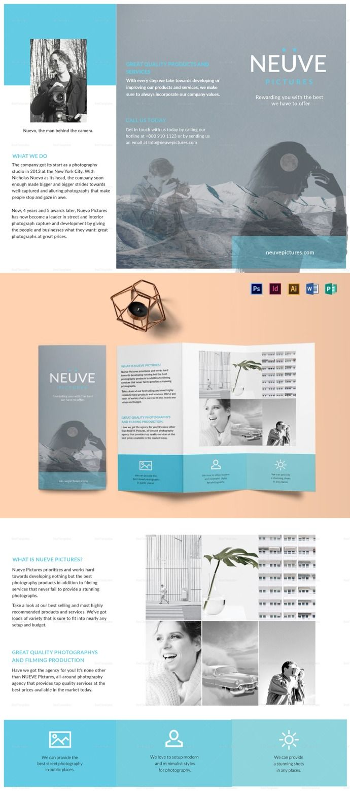 Simple And Clean Photography Brochure Template Photography