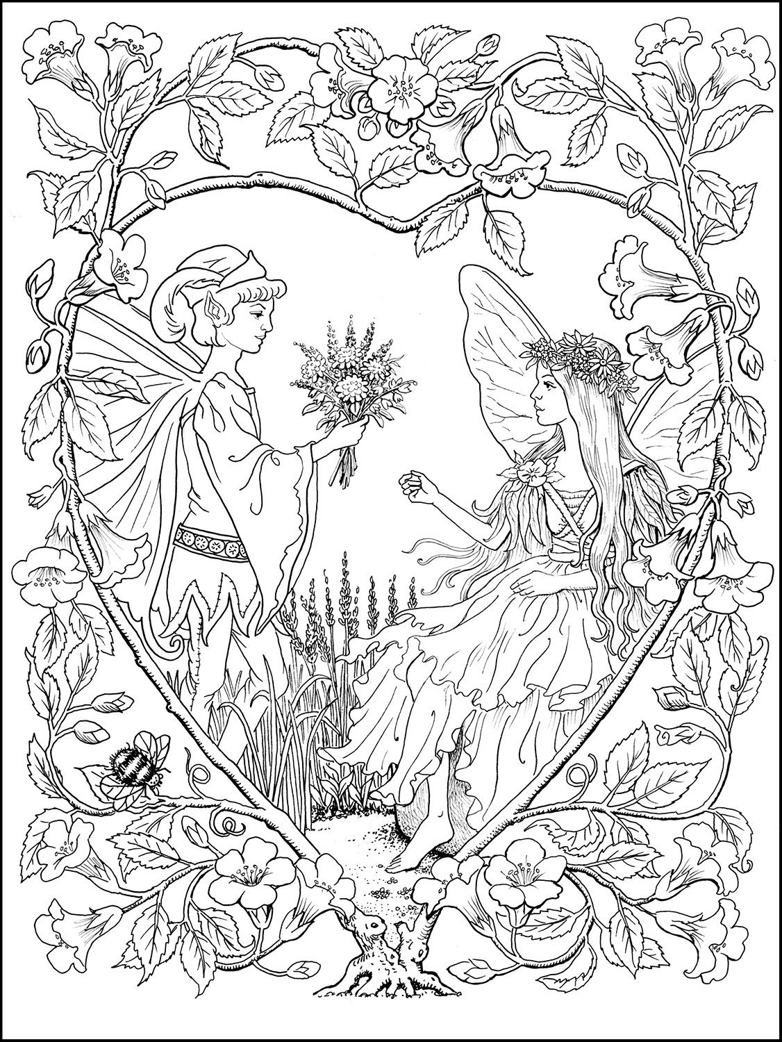 Fairies Coloring Book Samples