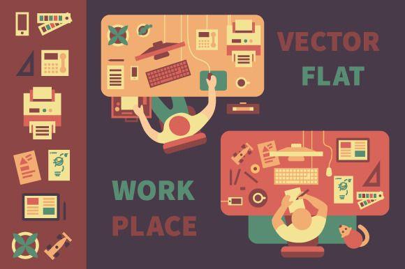Workplace. Business, design. ~ Illustrations on Creative Market