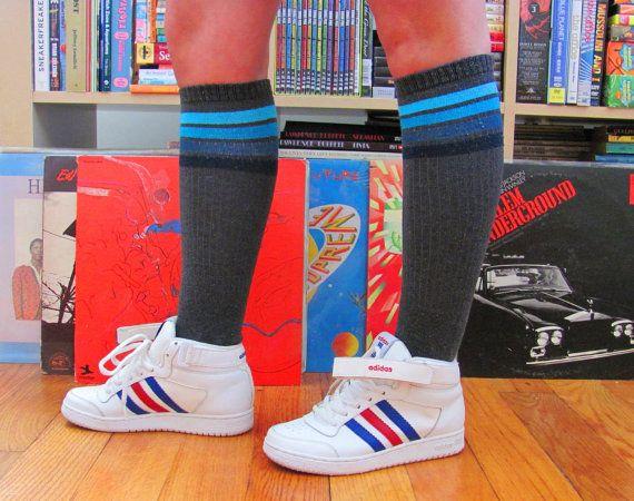 Vintage 1980s Adidas Top Ten Hi Top Basketball Sneakers