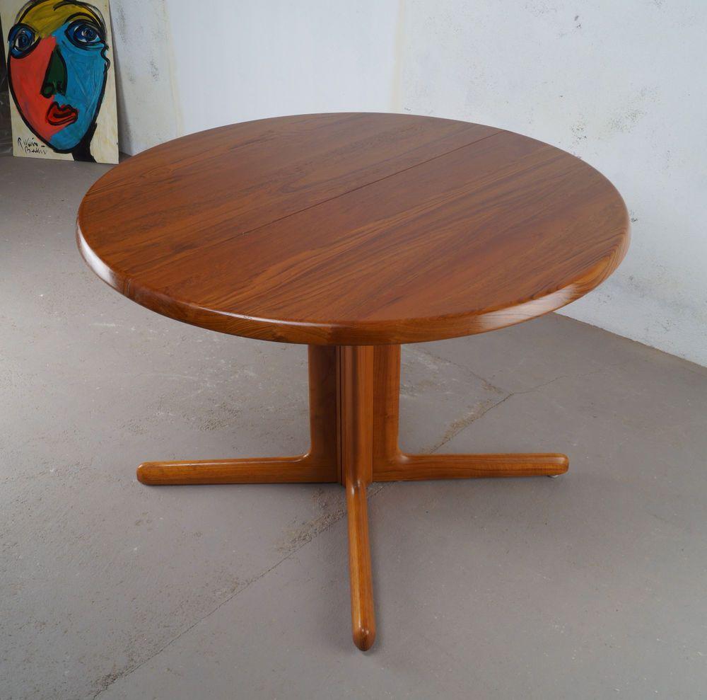 Runder, Erweiterbarer! Esstisch Koefoeds, Made In Denmark, MidCentury, 60er