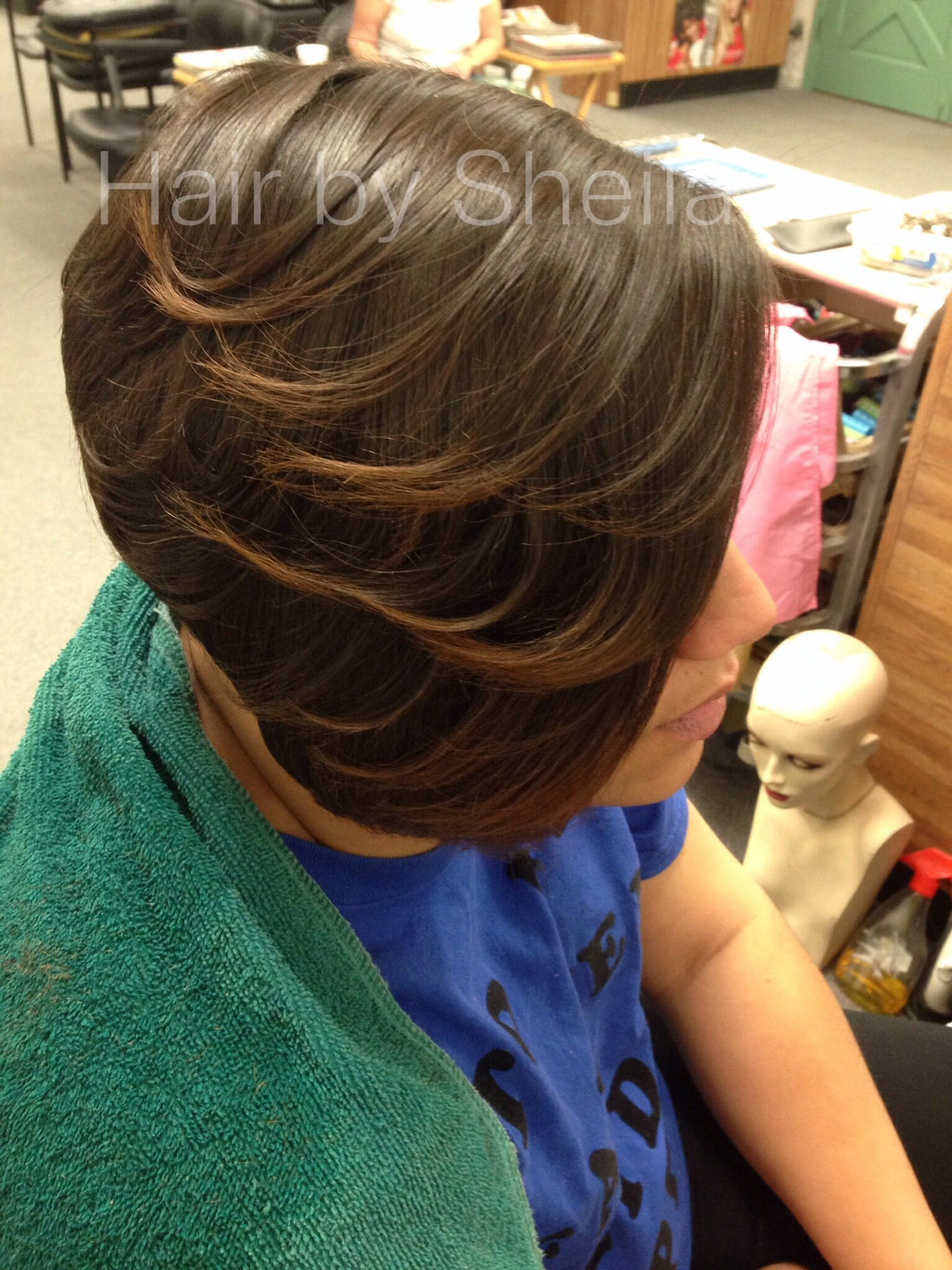Lacee's half-bob with layers. Shaved sides. | Hair styles, Short hair styles, Hair makeup
