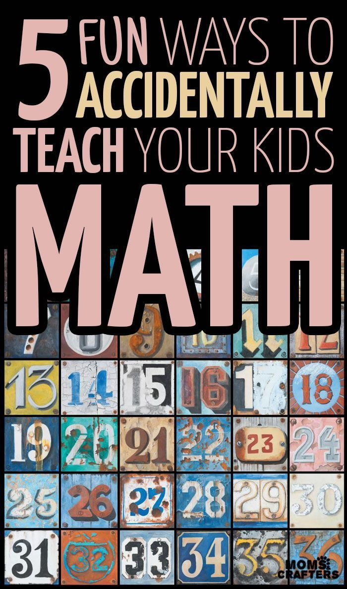 How to accidentally improve your kids\' math | Maths, Activities and ...