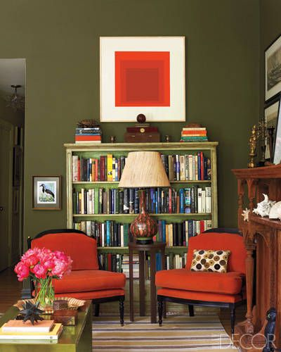 A Harlem Brownstone S Vivid Transformation Living Room Green Living Room Red Home