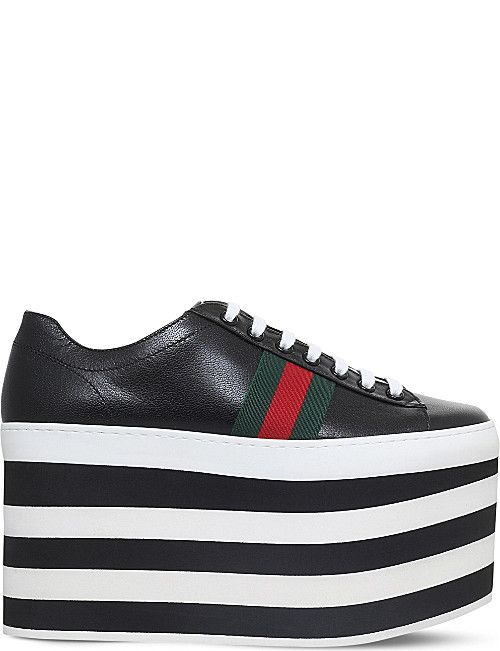 0c561082c81 GUCCI Peggy leather platform sneakers