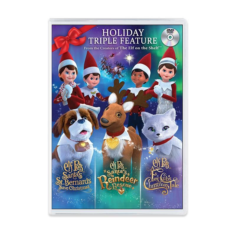 Christmas cheer abounds in each of these animated holiday specials. This collection of all three Elf Pets® tales will fill your Christmas season with enduring messages of faith, hope, and love. Make this collection a treasured family holiday tradition! This DVD set includes: Elf Pets: Santa's St. Bernards Save Christmas Animated Special Elf Pets: A Fox Cub's Christmas Tale Animated Special Elf Pets: Santa's Reindeer Rescue Animated Special