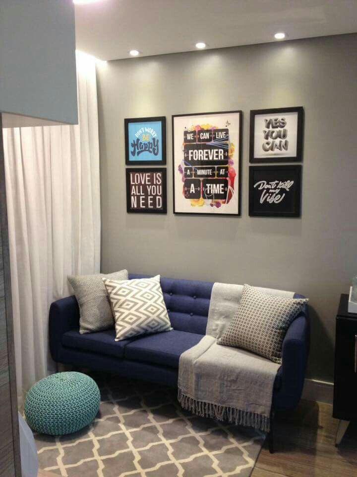 Cor parede cinza sala pinterest decora o decora o for Sala de adultos de moda