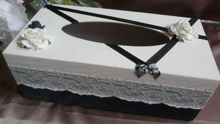 boite à mouchoirs en bois décorée techniques utilisées et ... - Technique Peinture Acrylique Sur Bois