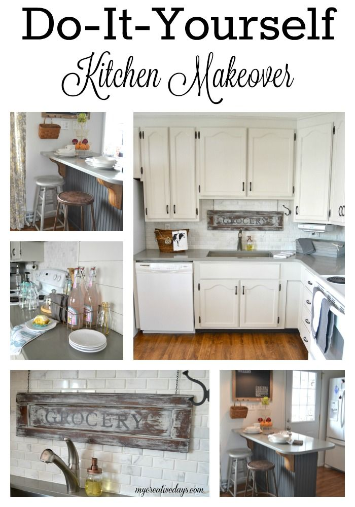 Do It Yourself Kitchen Makeover From My Creative Days Are You Looking To Update Your Check Out All The Projects We Did On Our Own Give