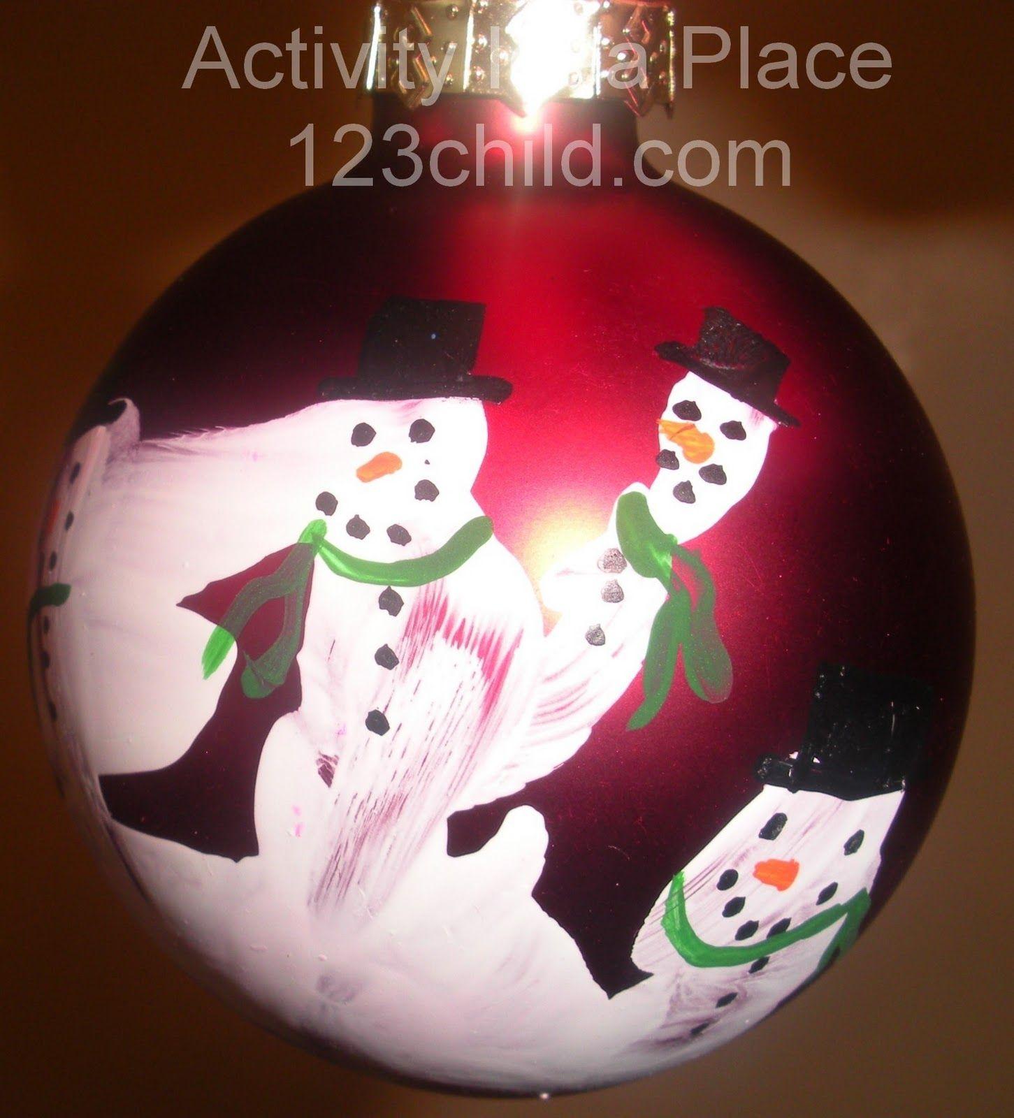 Snowman Hand Print Ornament Handprint Ornaments Christmas Homemade Christmas