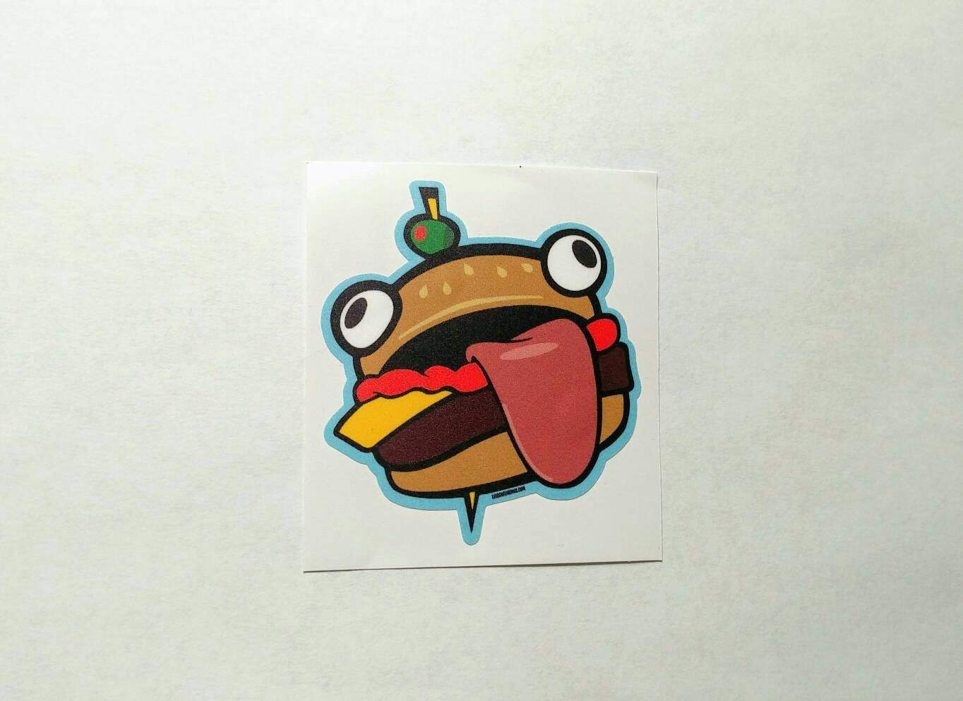 Durr Burger Fortnite Fast Food Sticker By Evergreenkings On Etsy