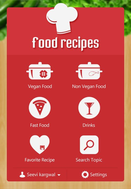 Food recipes app design by seevi kargwal ui pinterest app food recipe iphone app by seevi kargwal via behance forumfinder Choice Image