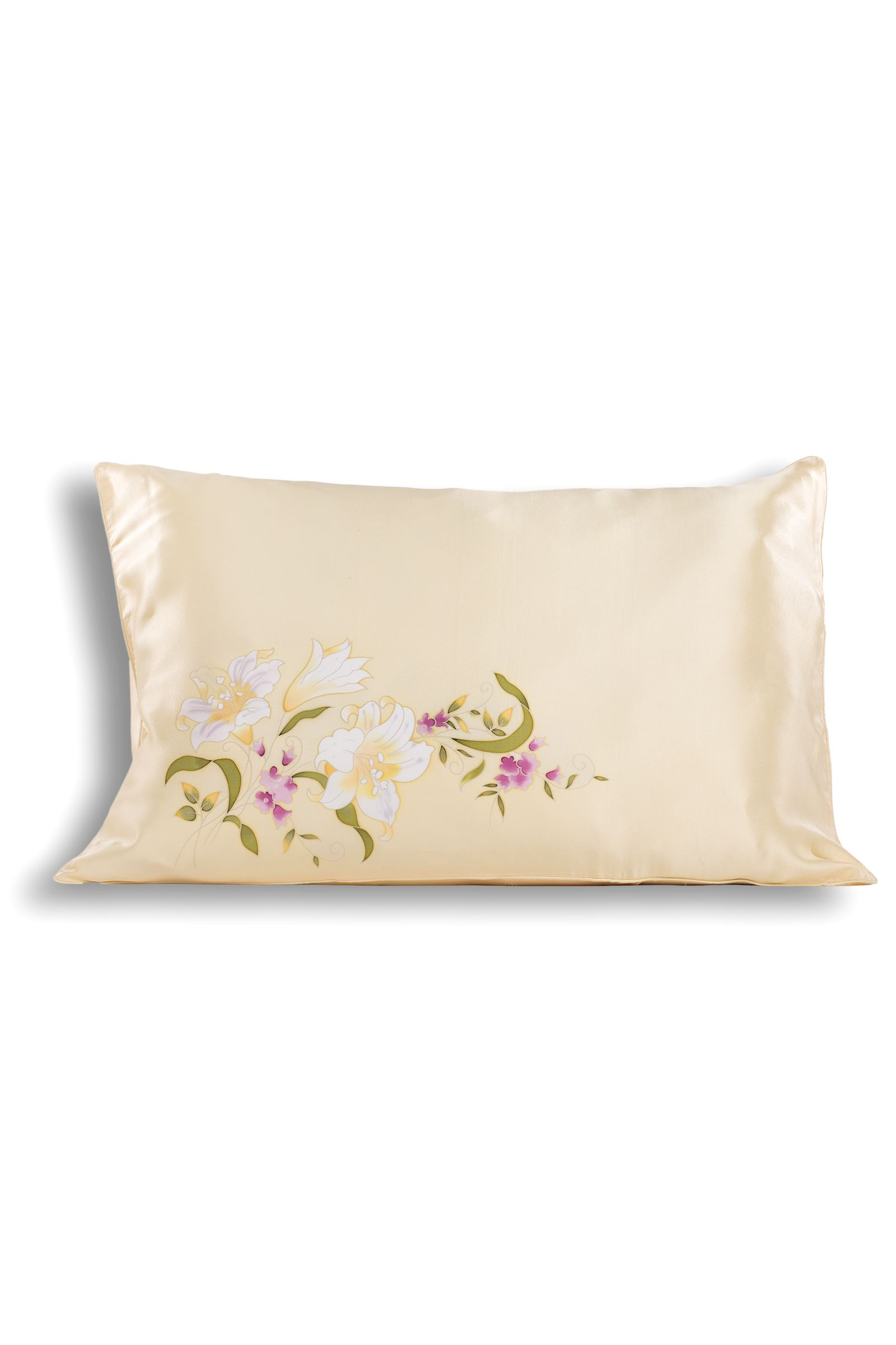 Hand Painted Silk Pillowcases: Available in Various Designs