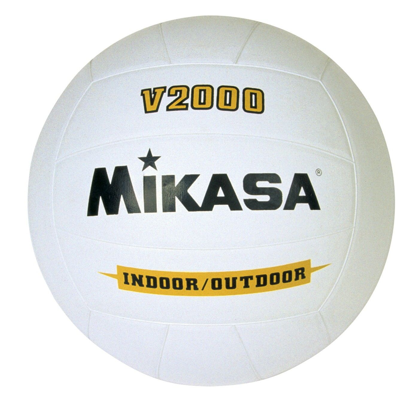Mikasa V2000 Premium Rubber Volleyball White In 2020 Mikasa Volleyball Rubber