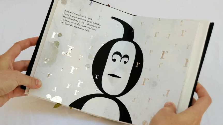//Bodoni bedlam pop-up book by Victoria Macey