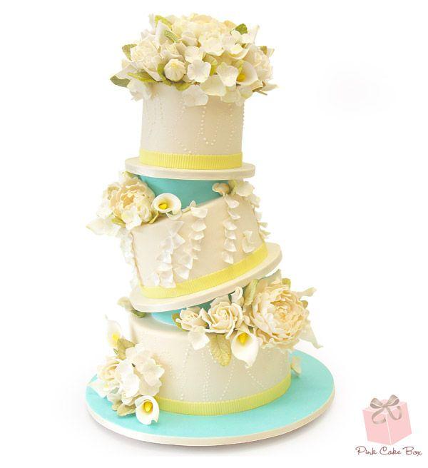 Topsy Turvy Ruffle Wedding Cake » Spring Wedding Cakes | Wedding ...