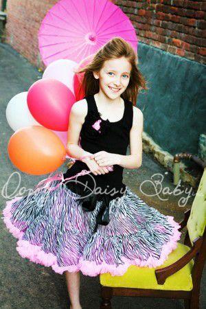 Oopsy Daisy Baby Zebra Hot Pink Pettiskirt Oopsy Daisy