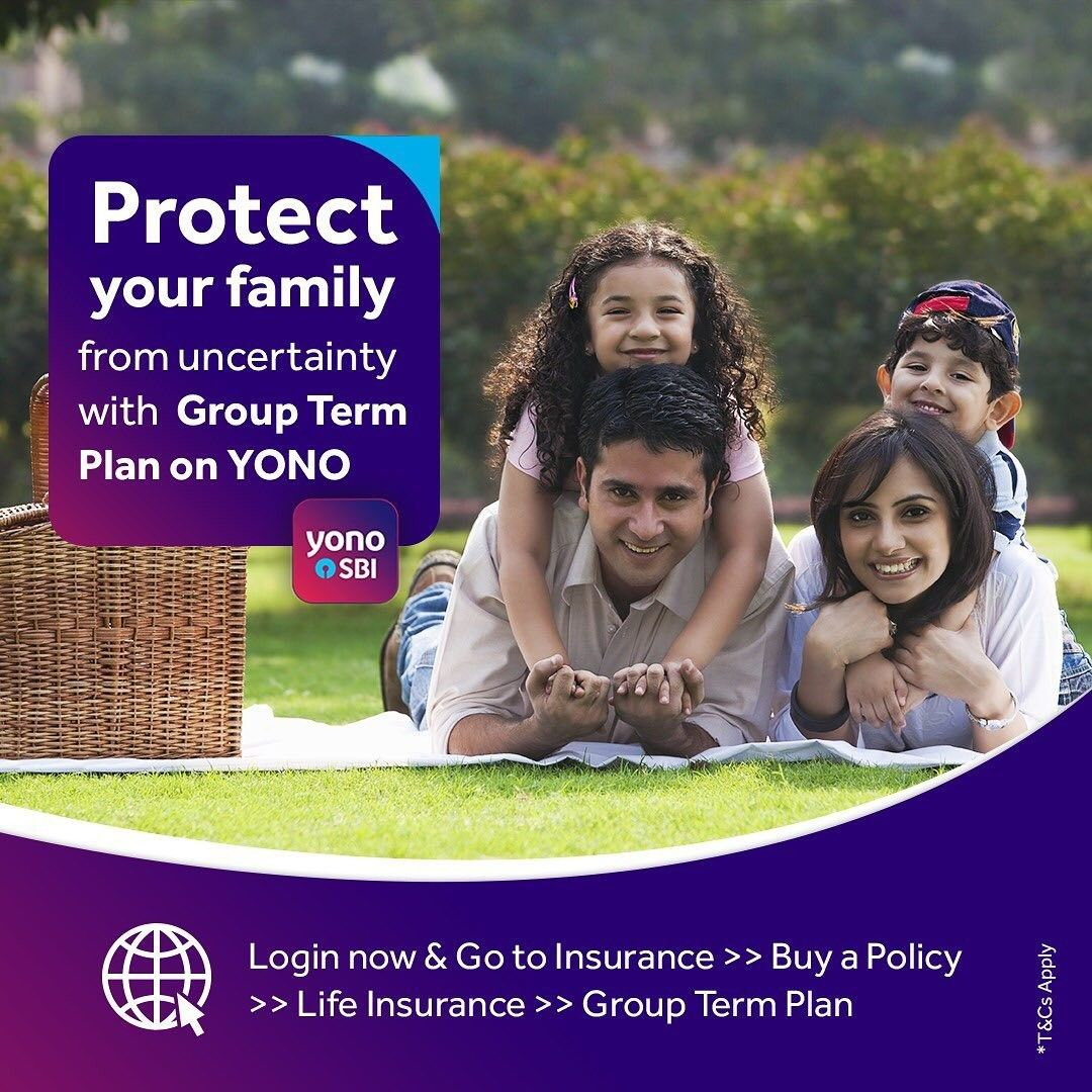 Avail The Group Term Plan via YONO SBI. in 2020 How to