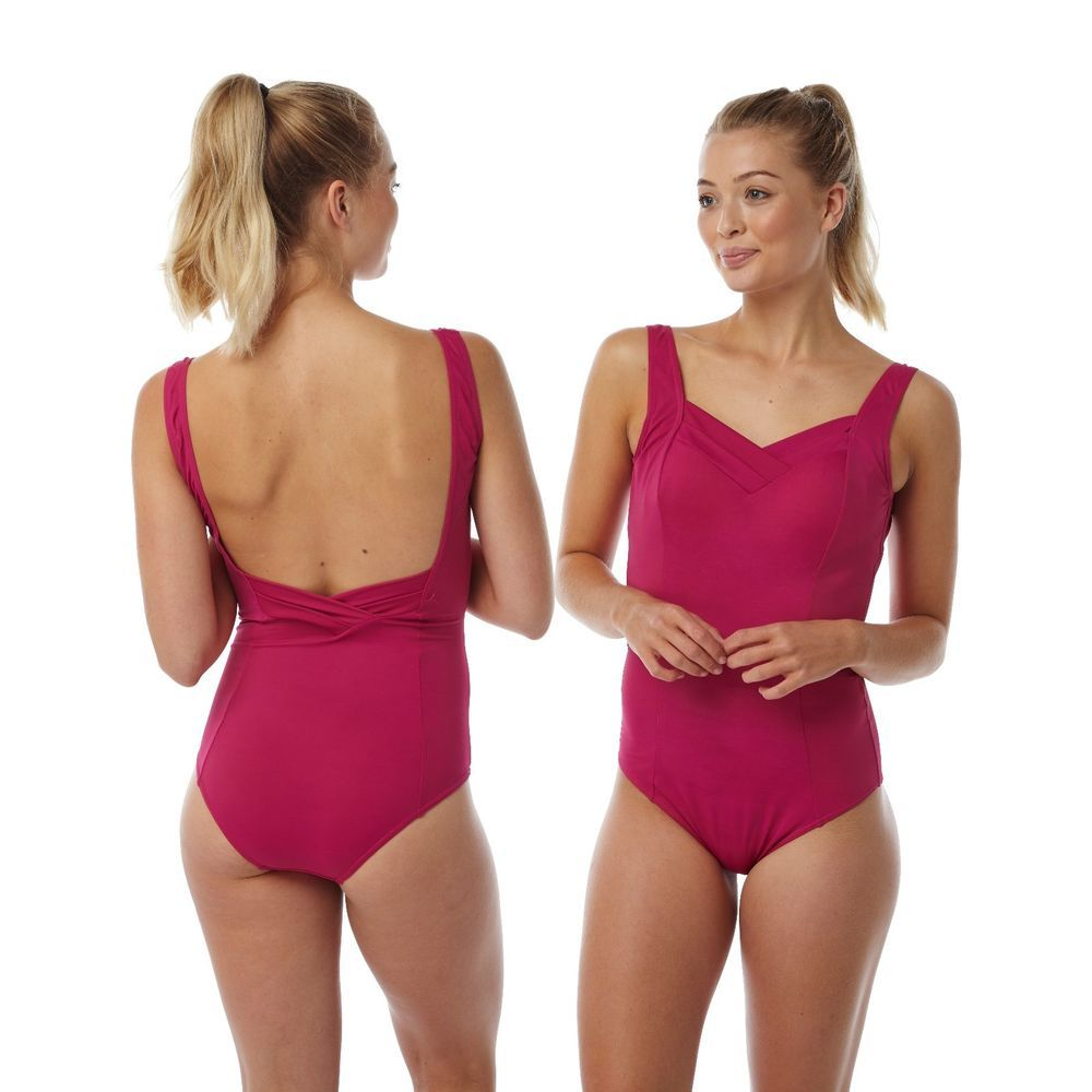 439c6e48a6db4 Ladies Pink Swimming Costume Bathing Swimsuit One Piece Size 16 18 20 22 24   fashion  clothing  shoes  accessories  womensclothing  swimwear (ebay link)