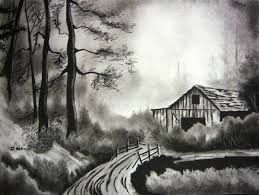 Image Result For Easy Charcoal Drawing Landscape Easy Charcoal Drawings Landscape Drawing Easy Charcoal Drawing