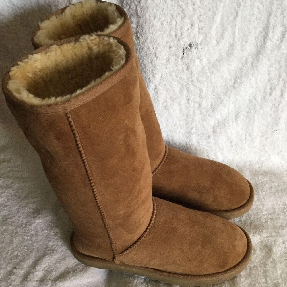 UGG Australia Women's Classic Tall Chestnut Sheepskin Boots