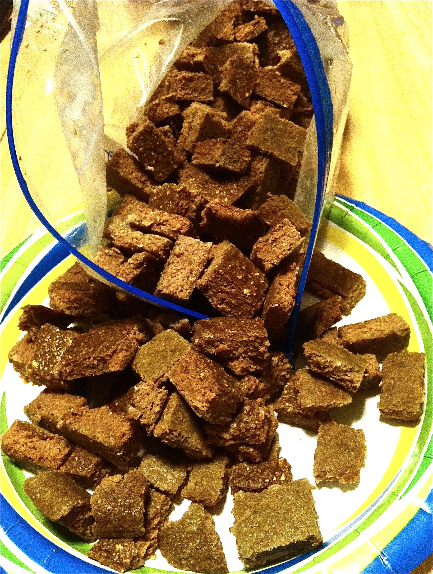 Doggie Brownies 1 1 2 Lb Raw Liver 1 Egg 3 C Oatmeal 1 2 T