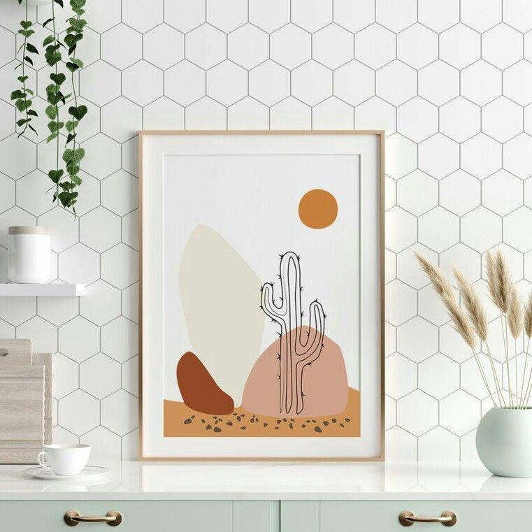 Desert Print Southwestern Decor Arizona Svg Cactus Print Etsy In 2021 Southwest Wall Art Boho Painting Cactus Wall Art