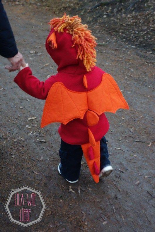 Drachenkostüm für Kinder selbst nähen - Lila wie Liebe
