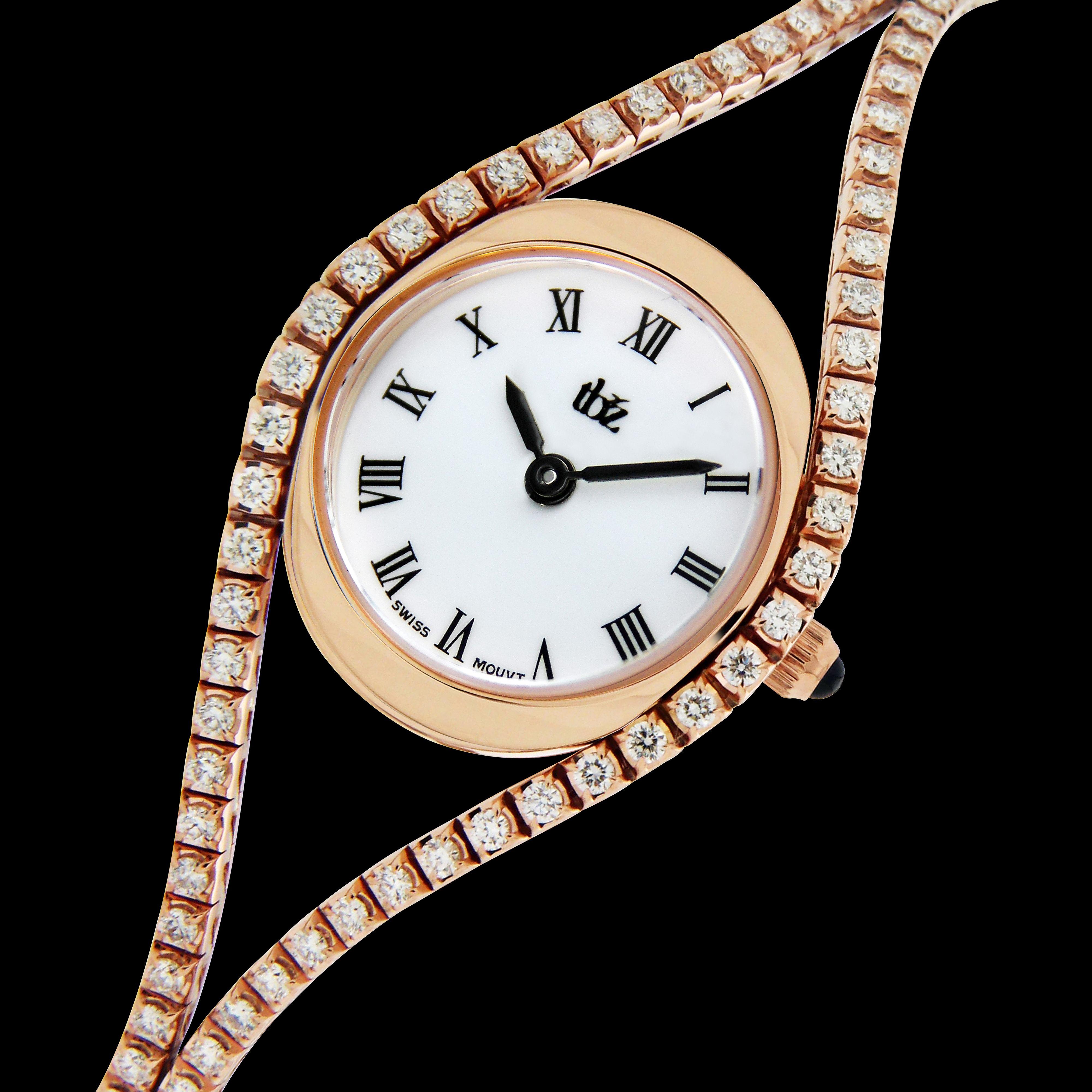 Tbzus specially crafted utennis braceletu model for ladies in rose