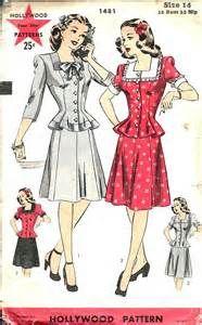 home vintage sewing patterns vintage sewing pattern dress hollywood ...